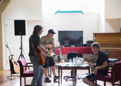 John, Kenneth Robinson and Jonathan Richardson at Mercyland
